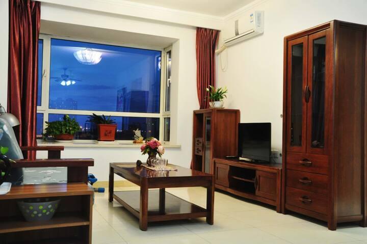 海河景观两居室,在家里可以俯瞰天津之眼和整条海河/古文化街/鼓楼/意式风情街/近地铁/天津西站,东站