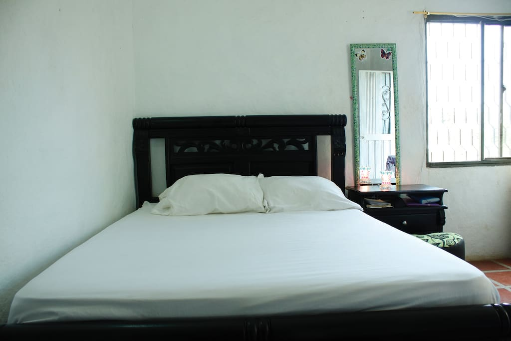 Private double room very close to the beach in Taganga