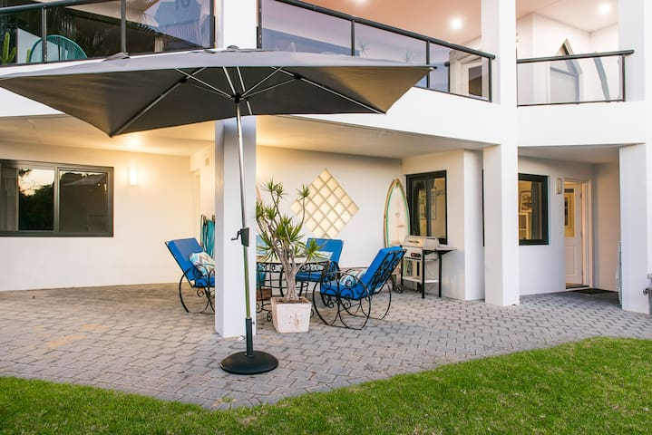 Private secured courtyard with own BBQ and outdoor setting
