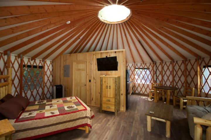 Glamping: Lantana Yurt  in Marion, North Carolina