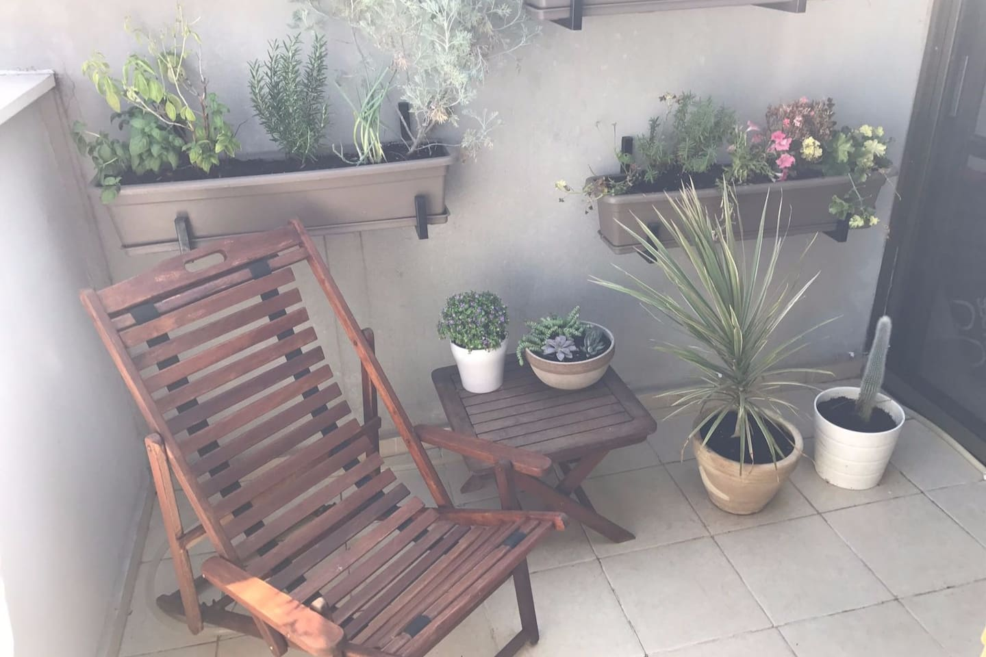 Our lovely balcony perfect for sipping your morning coffee