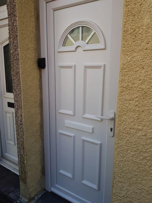 New Double Glazed Door to No 35