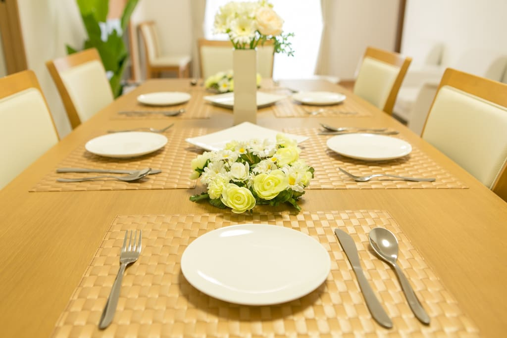 Rental Villa Okinawa (white),table