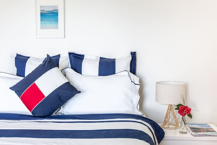 Luxury, 100 per cent Egyptian cotton, bed linen elevates each of the bedrooms.