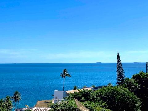 Apart-Hotel com vista mar e piscina - apto inteiro