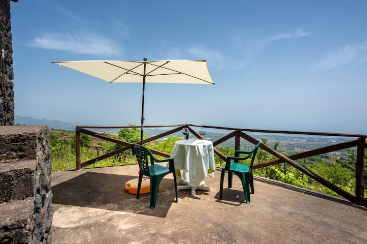At the foot of Etna Casa di Giò Sea View with Terrace and large surrounding park; Parking Available - Villa Panoramica - Montargano
