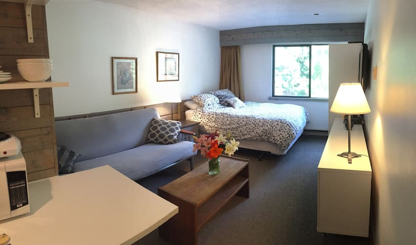 Cozy 2nd story 300 sq ft studio w/ kitchenette - Whistler - Byt