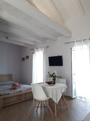Loft style apartment will modern comforts.