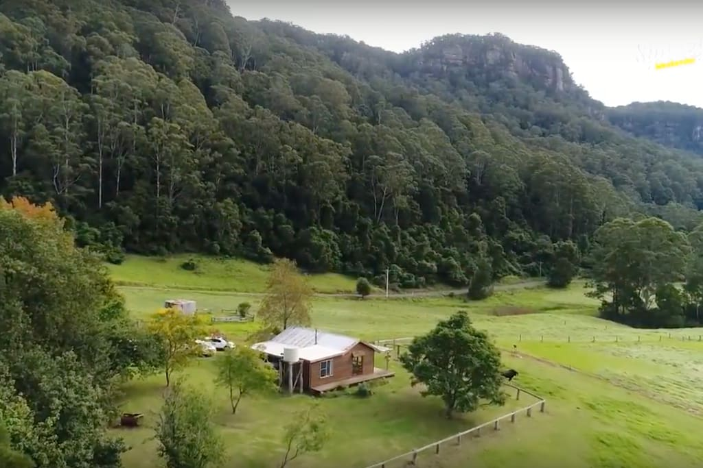 The Dairy cottage is set deep within Kangaroo Valley