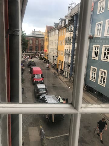 View of Nyhavn from the apartment