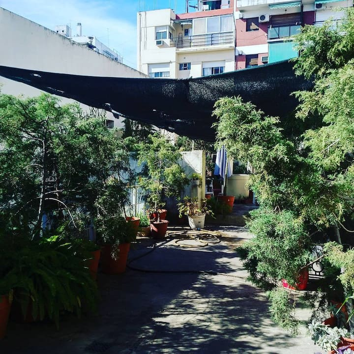 Double room in Recoleta guest house w roof terrace