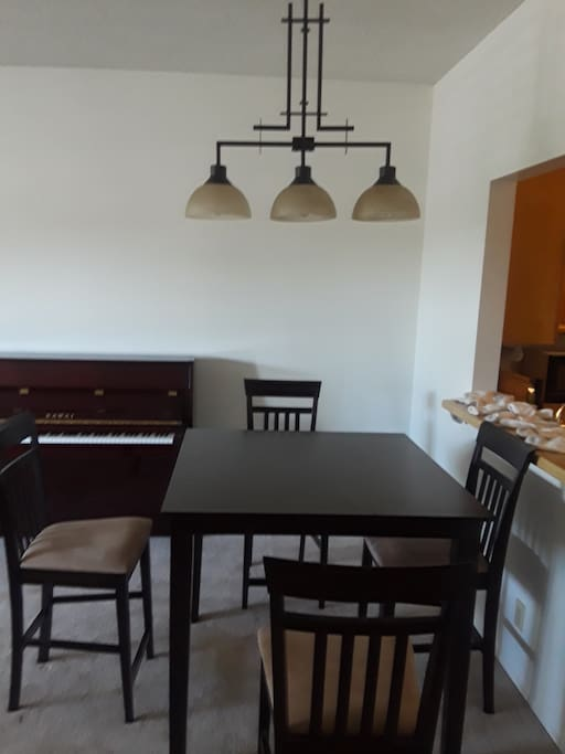 Dining Room: Dining Table Set, A Piano & Lights ....