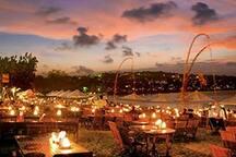 jimbaran evening beach dining