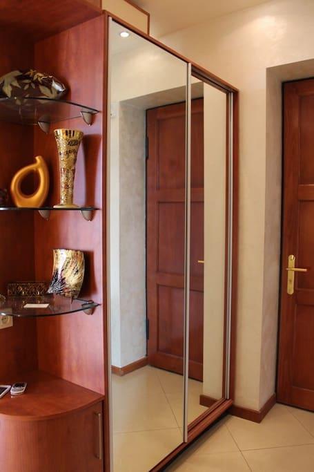 Corridor with wardrobe