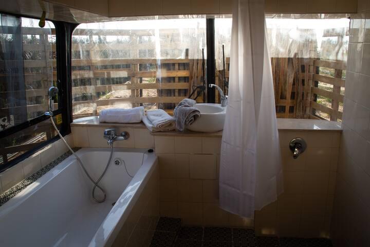 Comfort bus in Sdei Avraham, Israel