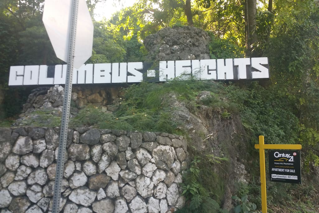 Columbus Heights is a private, hillside condo complex overlooking the town of Ocho Rios.