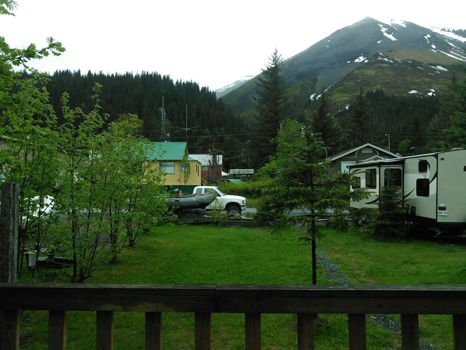 View from front porch of Mt. Marathon