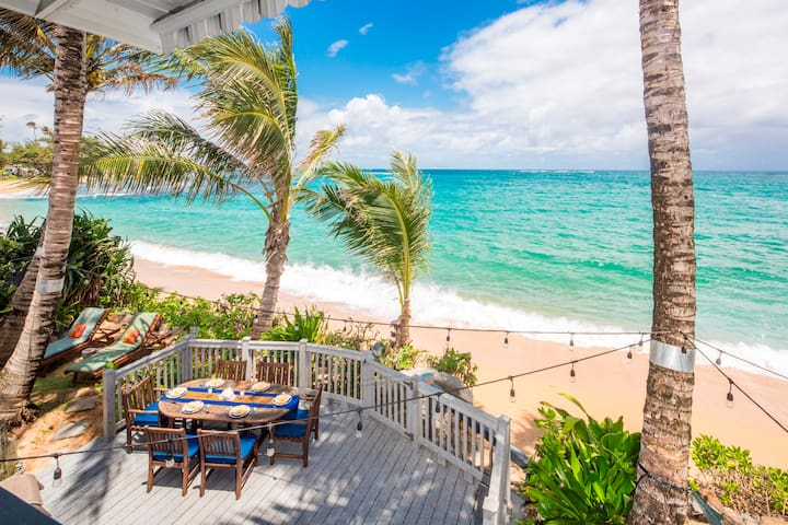 ★Sandy Beachfront Hm★ Fully Remodeled & Equipped. - Hauula - Huis