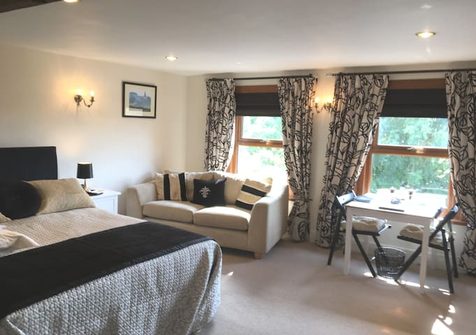 Lovely room with views over the beautiful Berkshire countryside.
