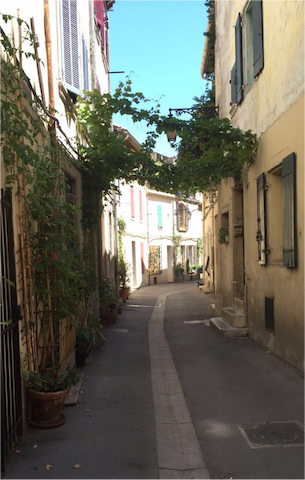 Typical house from provence style in Arles