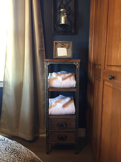 Towels and amenities supplied