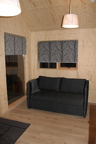 The living room - also a sofa bed.