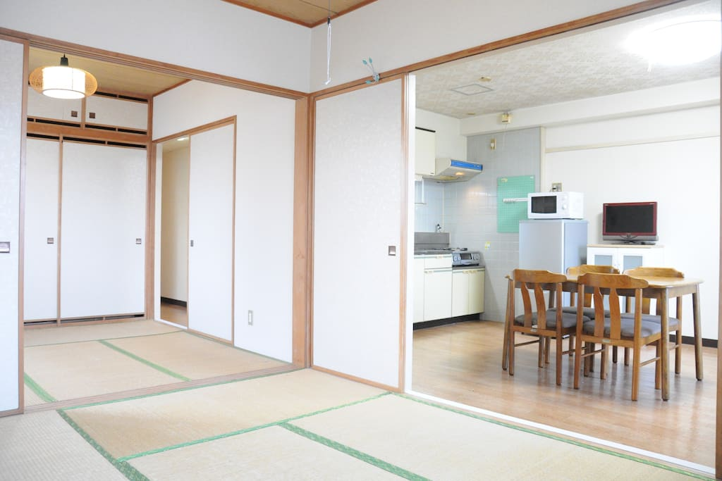 Japanese tatami & bedroom and dining room