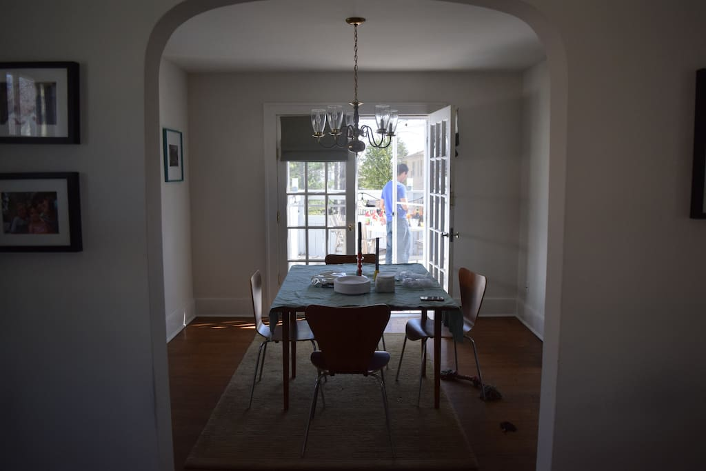 Full, separate dining room