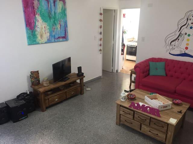 Habitación privada en bello y cómodo apartamento - Vicente López - Daire