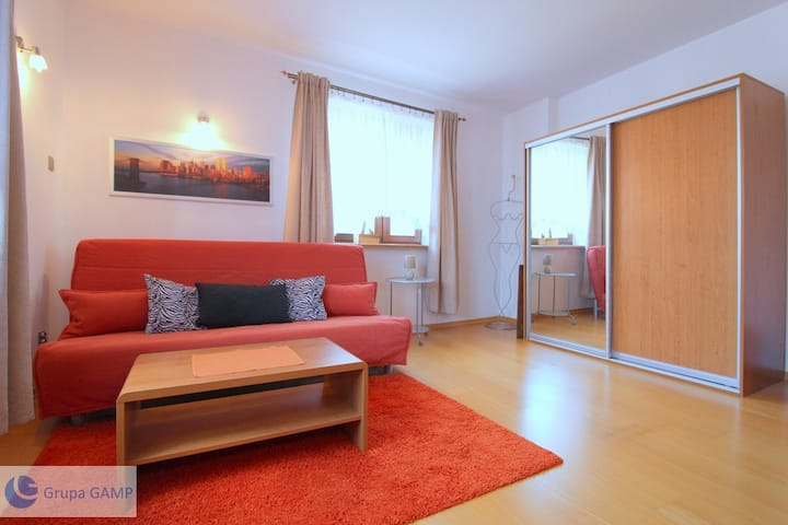 Spacious apartment with fast WiFi & parking space
