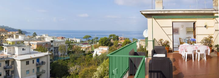 Apartment Miramare with Shared Pool, Terraces and Internet Wi-Fi