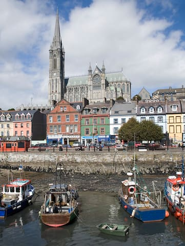 Cobh, formerly Queenstown, just 30 minutes from Cork by train.