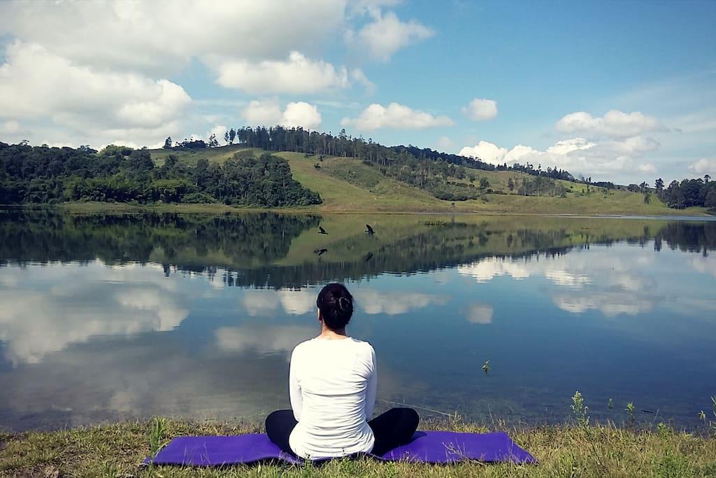Perfecto espacio de relajación y meditación.