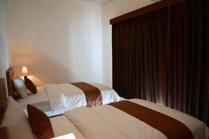 Deluxe twin room in pure Canggu beach