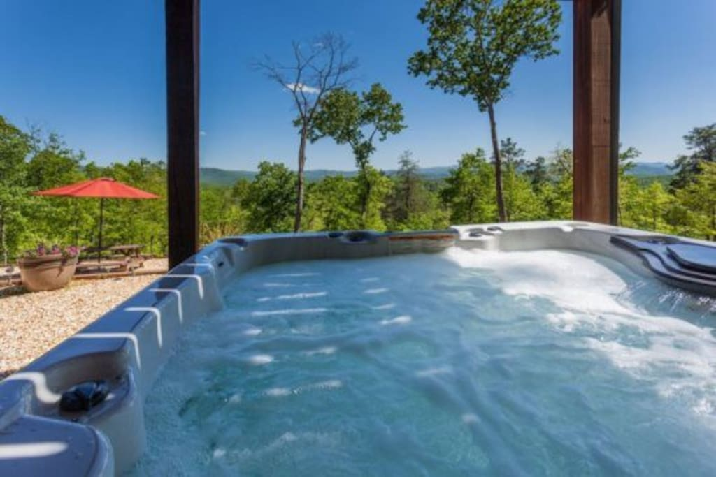 Spectacular views from the private Hot Tub