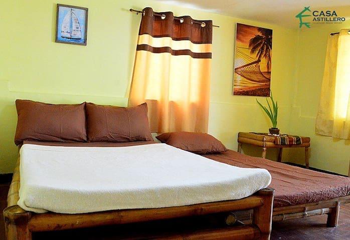 Beach Room AC room for 6-10pax  Casa Astillero