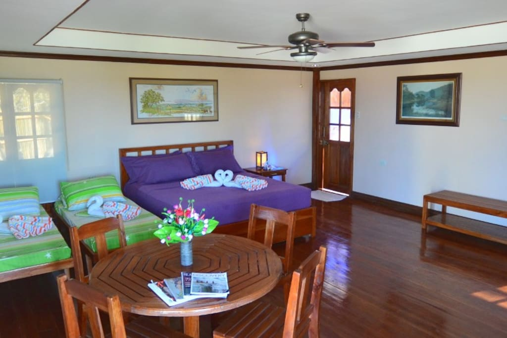 Casita - one king size bed and two single beds