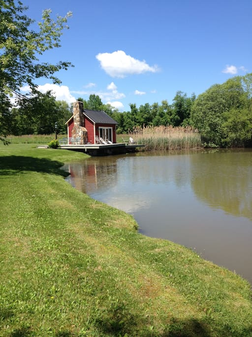 Take a walk around the pond and mowed paths.