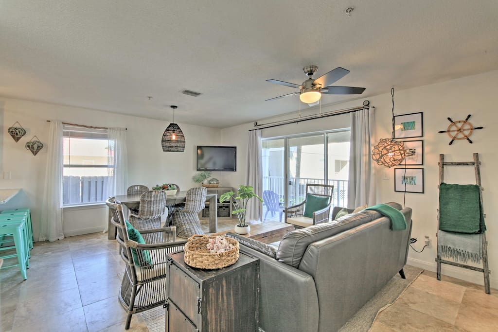 Take a break from the heat in the spacious living room.