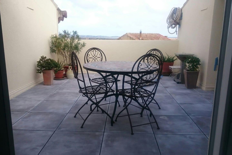 Terrasse au Sud avec vue 20 m2 sans vis-à-vis