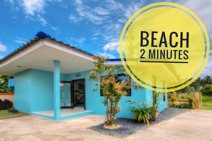 ♥Beach 2 MINUTES ♥ Pool house Phuket♥ 40m2