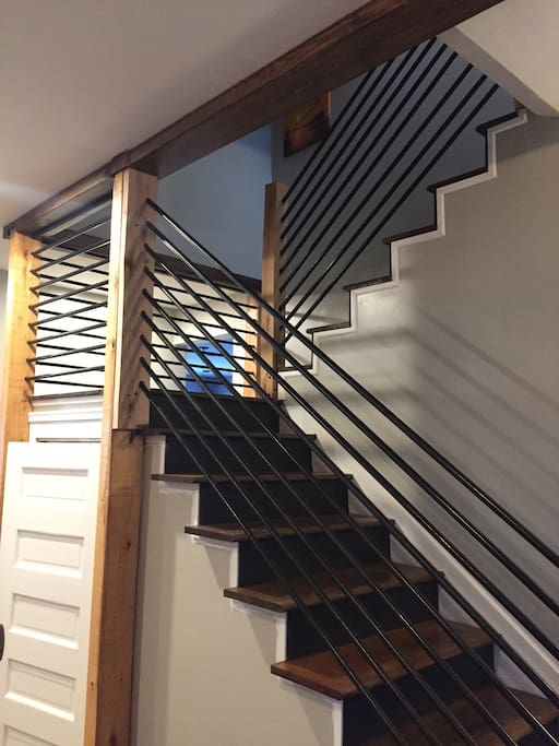 Stairway to your private room and bathroom