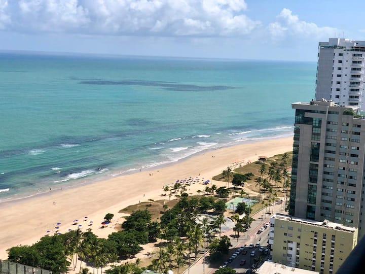 Luxuryocean view of the beautiful Boa Viagem Beach