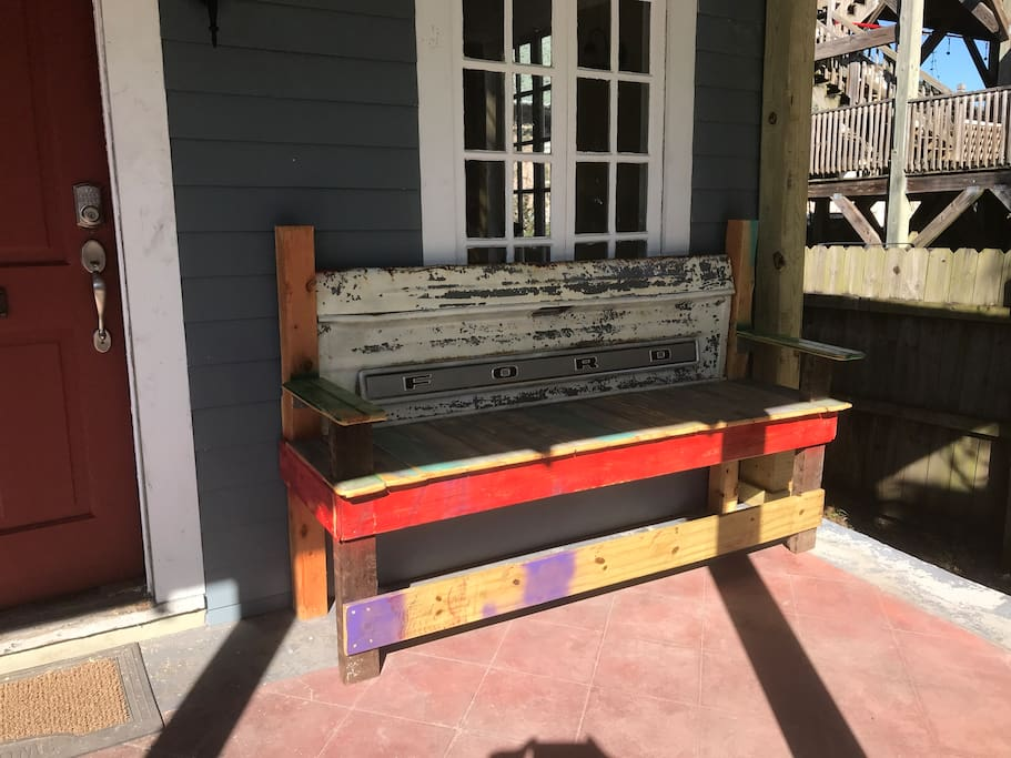 Tailgate Bench, literally..!