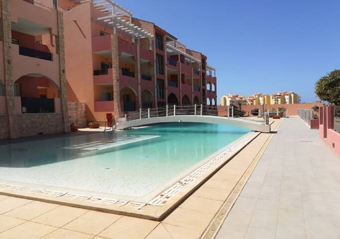 Sea view apt #1 with swimming pool, Boa Vista, CV