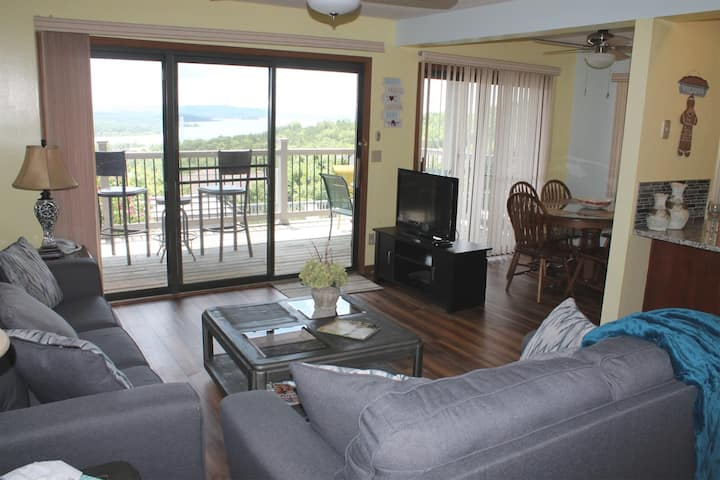 Fantastic Lake View!  Near Pool, Close to SDC, Newly Renovated, Large Deck, 2 bed 2 bath Condo