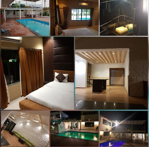 Villa 1 About 4 Bed Rooms , 2 Living Rooms with Private Jacuzzi Swimming Pool