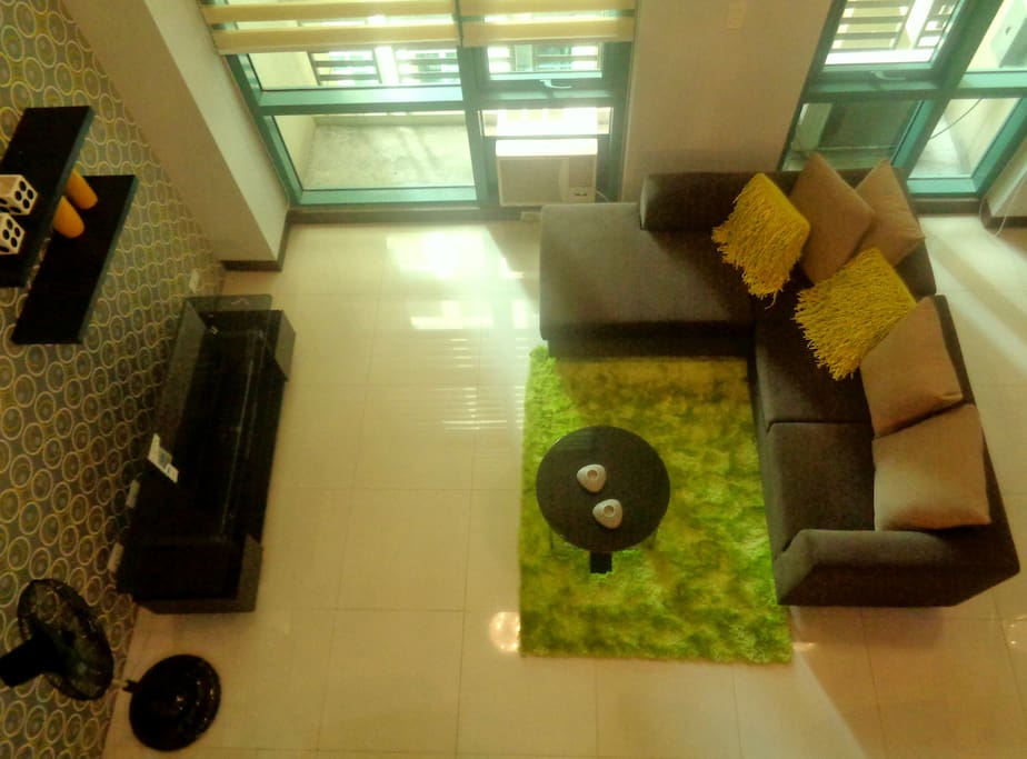 Living area from top view