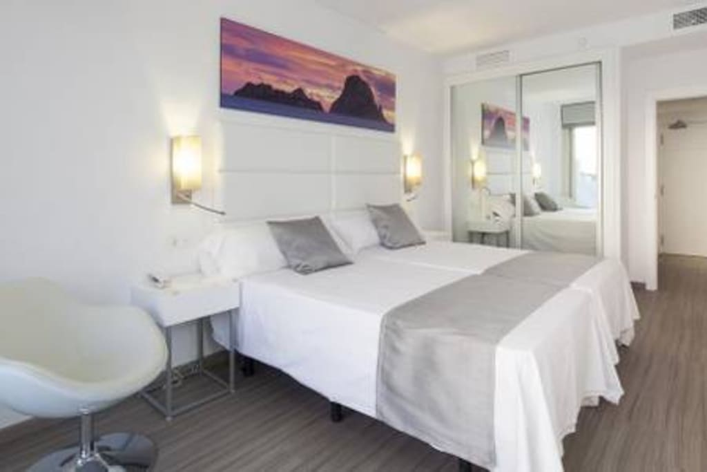 Bedroom example (2 guest apartment)
