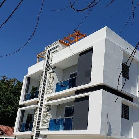 Beach Front -AC -Apartment in Rio San Juan
